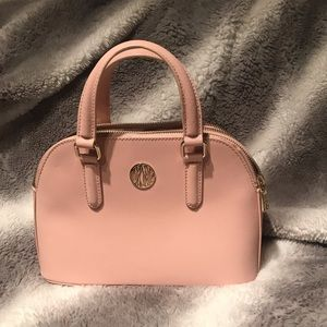 Pink Saffiano Leather DKNY Purse